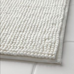 IKEA White Bathroom Mat Rug Carpet